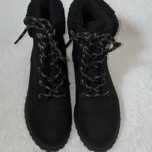 Old Navy Faux Suede and Leather Boots